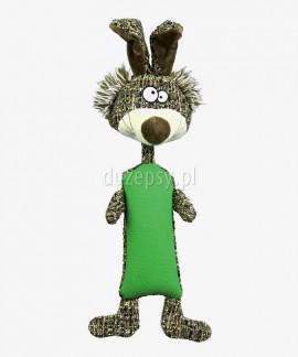 Pluszak dla psa zabawka piszcząca z elementem gumowym KRÓLIK Trixie 37 cm