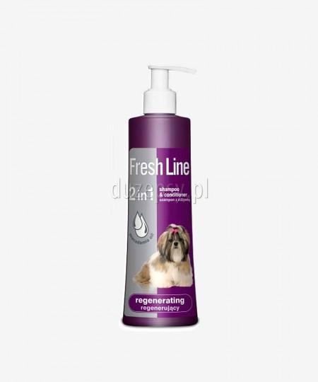 Szampon z odżywką do intensywnej regeneracji skóry i sierści psów Fresh Line Dermapharm, 220 ml