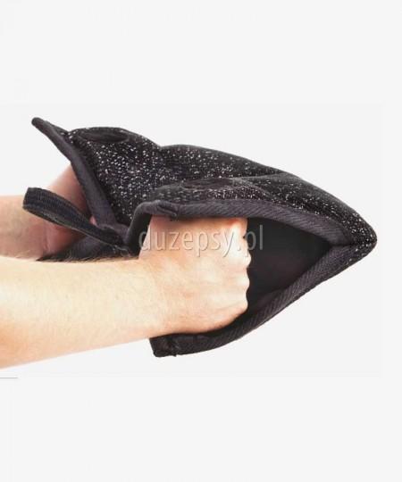 Mufka gryzak dla szczeniąt z tkaniny francuskiej z dwoma uchwytami Dingo Gear