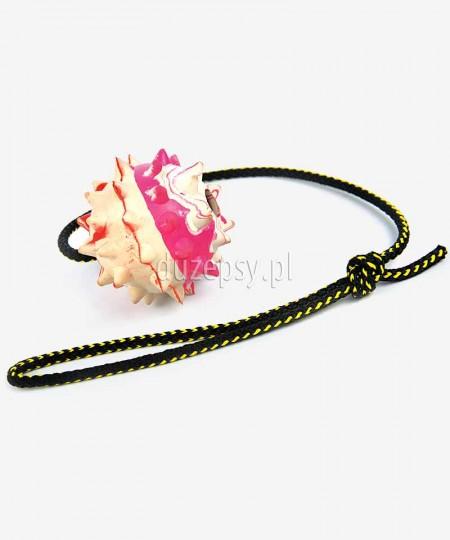 Piłka aportowa dla psa z twardej gumy z kolcami Ø 7,5 cm