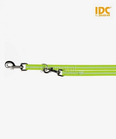 Julius-K9 IDC® Lumino smycz regulowana dla psa antypoślizgowa 220 cm