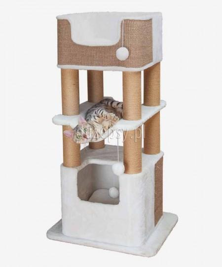 Wysoki drapak dla kota z hamakiem i domkiem LUCANO Trixie wys. 110 cm