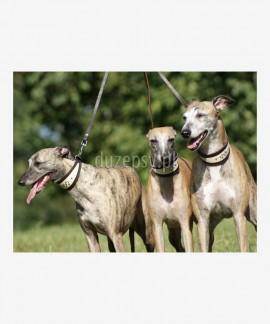 Rozdzielacz do smyczy na dwa psy skóra 50-68 cm