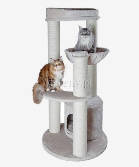 Ekskluzywny drapak dla kota duży z domkiem i legowiskiem CARLOS XXL Trixie wys. 159 cm