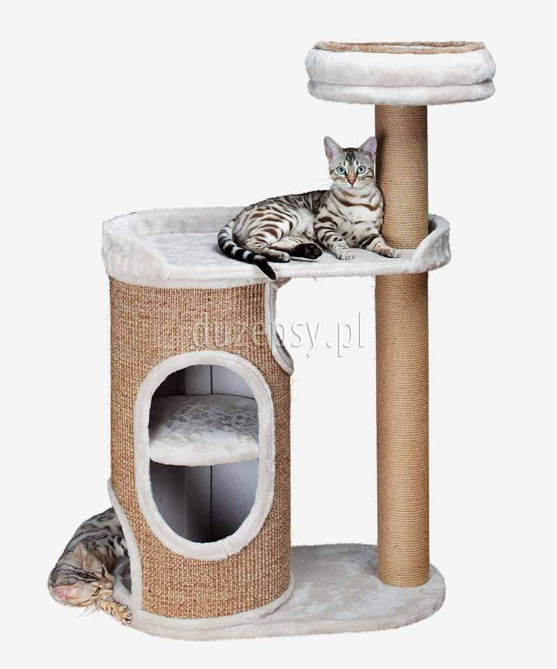 743a075294bb50 Drapak dla kota z domkiem i legowiskiem wieża FALCO Trixie wys. 117 cm