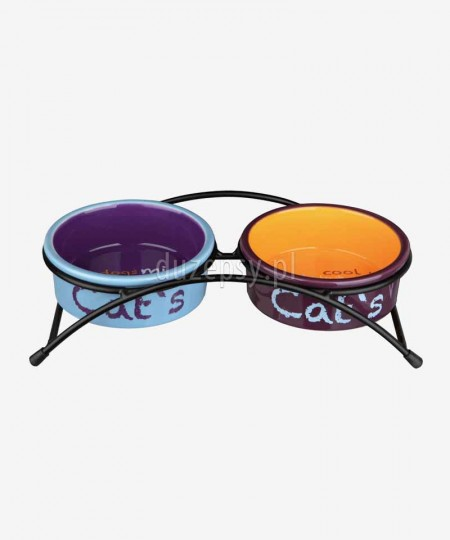 Miski ceramiczne dla kota na stojaku Trixie EAT ON FEET ø 12 cm