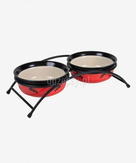 Miski dla kota ceramiczne na stojaku Trixie EAT ON FEET ø 12 cm