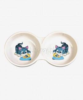 Miski ceramiczna dla kota podwójna Trixie ø 11 cm