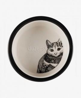 Miska dla kota ceramiczna ZENTANGLE Trixie ø 12 cm