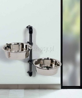 Miski dla dużego psa na stojaku montowanym do ściany Trixie 2 x 2,8 l