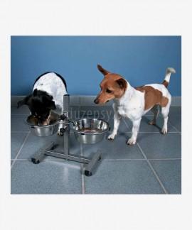 Stojak z miskami dla dużego psa regulowany Trixie