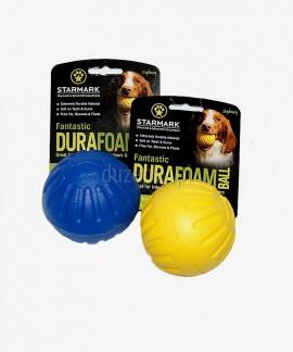 Piłka dla psa extra mocna STARMARK lekka i pływająca 7 cm