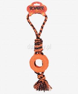 Zabawka dla psa opona z liną BOMBER