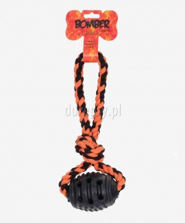 Mocna zabawka dla psa z linką GRANAT Zeus BOMBER