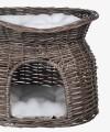 Kosz z wikliny dla kota szary podwójne legowisko Trixie 54 × 43 × 37 cm