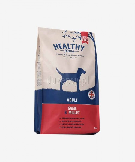 Healthy Paws dziczyzna i proso karma dla psów dorosłych mniejszych ras 6 kg