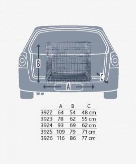 Klatka metalowa dla psa mała do samochodu, na wystawy Trixie 64 × 54 × 48 cm