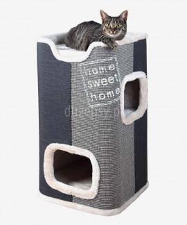 Nowoczesny drapak dla kota z domkiem wieża JORGE Trixie wys. 78 cm