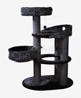 Ekskluzywny drapak dla kota czarny FILIPPO Trixie wys. 114 cm