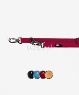 Smycz regulowana z amortyzatorem z mocnej taśmy dla dużego psa EXPERIENCE 220-240 cm