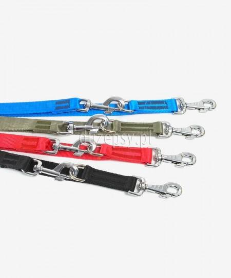 Smycz regulowana dla psa z taśmy STANDARD 10-30 mm x 120-220 cm