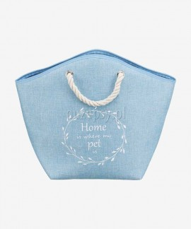 Eleganckie legowisko dla kota designerskie EMMA Trixie niebieskie
