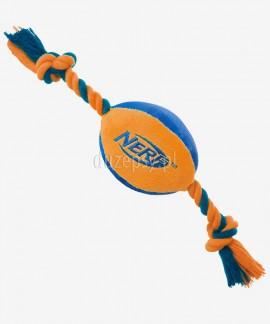 Nylonowa piłka dla psa ze sznurem NERF DOG M