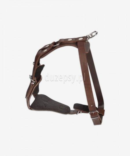 Szelki szkoleniowe dla psa z miękkiej skóry CYGAN 70-103 cm