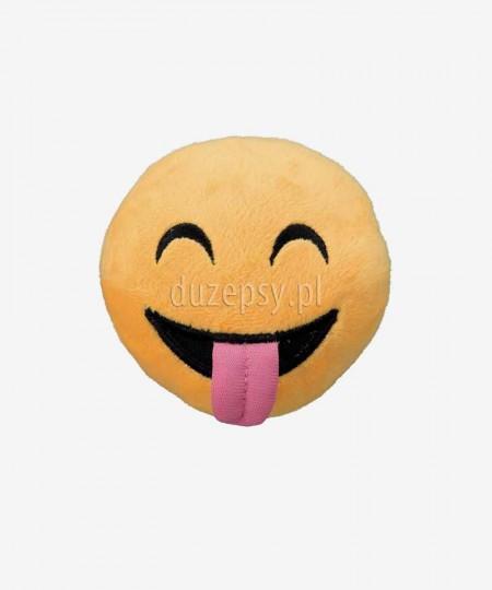 Miękka piłka dla psa piszcząca z pluszu Smiley Tongue Trixie ø 9 cm