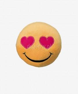 Pluszowa piłka dla psa piszcząca Smiley Heart Eyes Trixie ø 9 cm