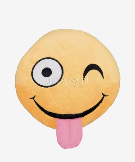Piłka dla dużego psa piszcząca z pluszu Smiley Winking Trixie ø 14 cm