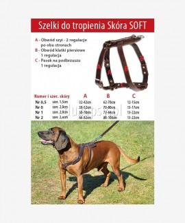 Szelki dla psa do tropienia z miękkiej skóry 73-100 cm