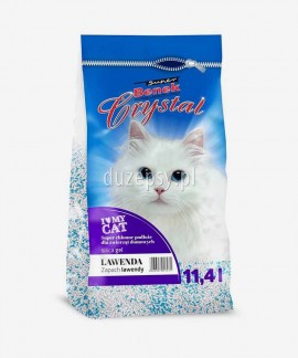 Żwirek dla kota silikonowy Super Benek Crystal Lawenda