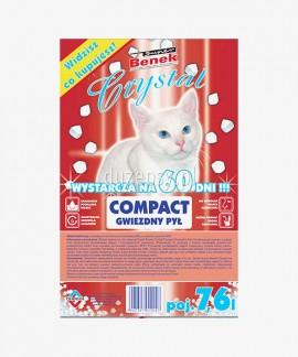Super Benek Crystal Compact Naturalny żwirek dla kota silikonowy drobny 15 kg