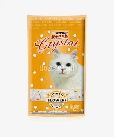 Super Benek Crystal Kwiatowy żwirek dla kota silikonowy 3,8 l