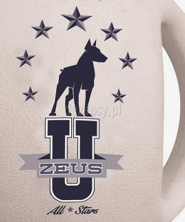 Zeus Varsity BASEBALL extra mocna piłka dla psa z serii uniwersyteckiej