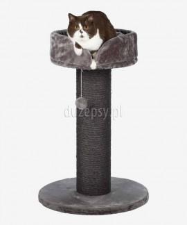 Drapak dla kota szary z legowiskiem i grubym słupkiem z sizalu PEPINO Trixie wys. 89 cm