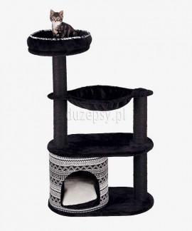 Drapak dla kota czarny z legowiskiem i domkiem GIADA Trixie wys. 112 cm