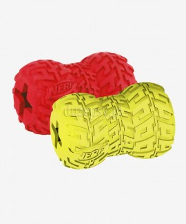 Zabawka dla psa na smakołyki mocna rolka z bieżnikiem Nerf Dog, 2 rozmiary