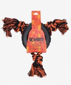 Oponka ze sznurem mocna zabawka dla dużego psa Zeus BOMBER