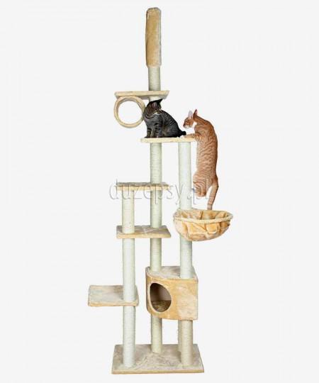 Wysoki drapak dla kota do sufitu MADRID Trixie beżowy wys. 245-270 cm