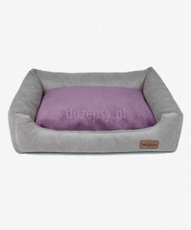 Legowisko dla średniego psa rozbieralne sofa Siberian szara