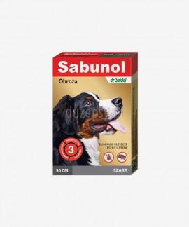 SABUNOL obroża na kleszcze i pchły dla średniego psa szara 50 cm