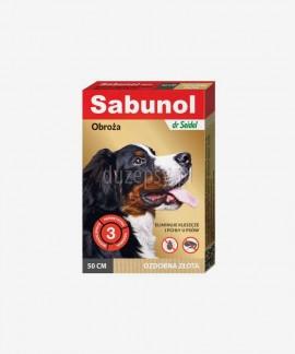 SABUNOL obroża na kleszcze i pchły dla średniego psa ozdobna złota 50 cm