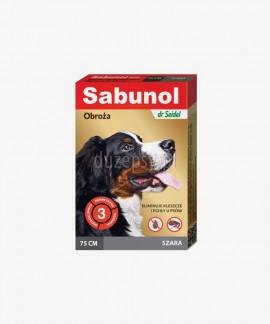 SABUNOL obroża na kleszcze i pchły dla dużego psa szara 75 cm