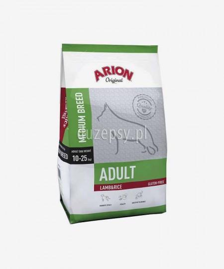 ARION Original Adult Medium Breed Lamb & Rice 12 kg - jagnięcina sucha karma dla dorosłych psów średnich ras