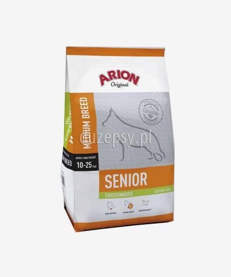 ARION Original Senior Medium Chicken & Rice 12 kg - kurczak sucha karma dla psów seniorów