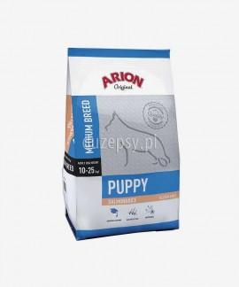 ARION Original Puppy Medium Salmon & Rice 12 kg - sucha karma dla szczeniąt psów średnichh ras z łososiem