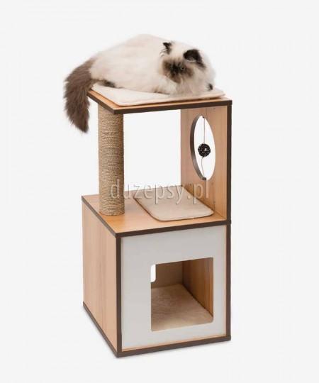 Elegancki drapak dla kota drewniany Catit Vesper V-Box wys. 72,5 cm