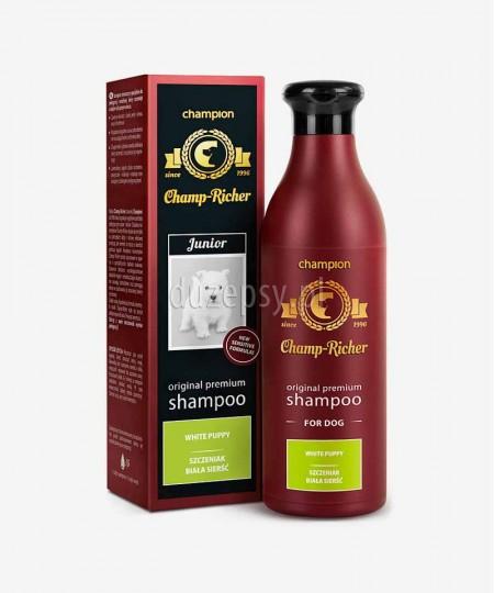 Szampon dla szczeniąt do białej sierści z ekstraktem aloesu i białej perły Champ Richer CHAMPION 250 ml